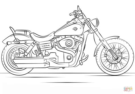 harley davidson motorcycle coloring page  printable