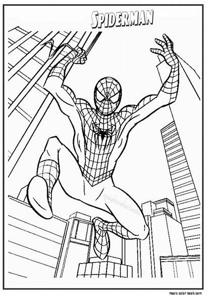 Spider Amazing Coloring Pages Spiderman Getdrawings Printable
