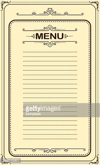 blank menu menu vector and graphics getty images