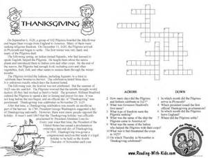 thanksgiving crossword puzzles for pictures images