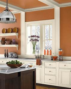 The best tuscan paint colors for your home for Kitchen colors with white cabinets with wagon wheel wall art