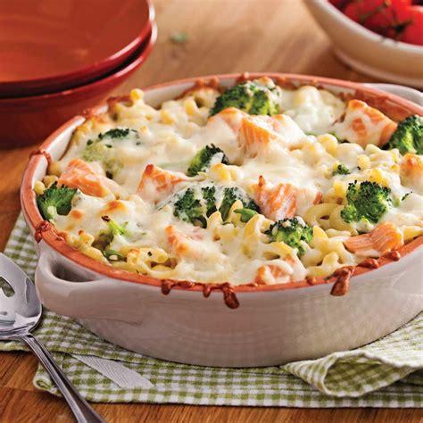 cuisine brocolis gratin de macaronis au saumon et brocoli recettes