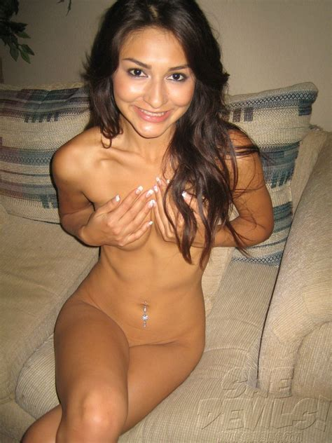 Gorgeously Skinny And Puffy Nippled Latina Self Shot Teen