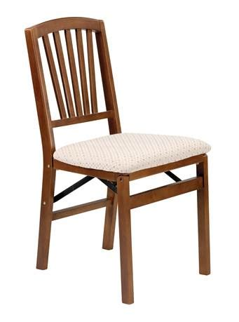 stakmore co slat back folding chair in warm fruitwood
