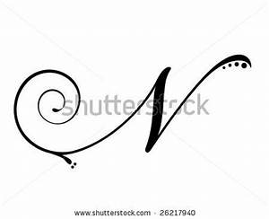 Letter N - Script - stock vector   Typography Templates ...