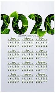 [53+] 2020 Calendar Phone Wallpapers on WallpaperSafari