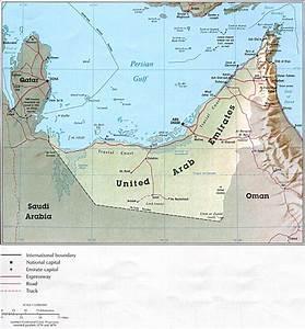 Vereinigte Arabische Emirate Alte Karte
