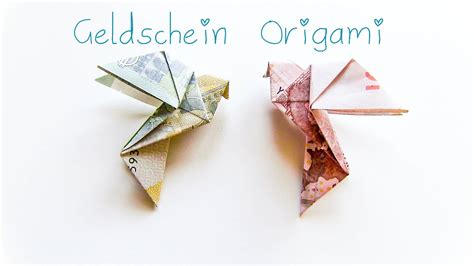 diy geldschein origami vogel geschenkidee youtube