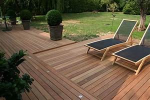 comment realiser une terrasse en bois bricobistro With comment faire une terrasse en bois sur plot beton