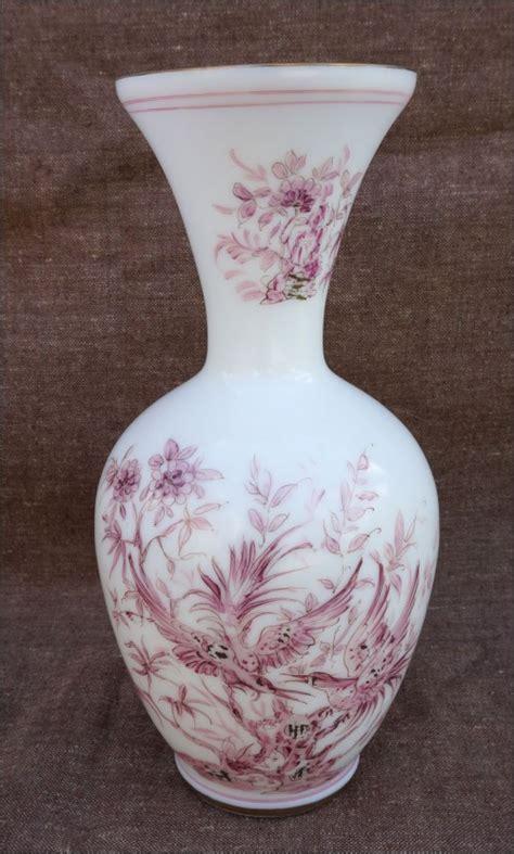 vase opaline oiseaux de paradis xx 232 me sign 233 huy