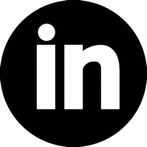 Image Gallery linkedin circle icon white