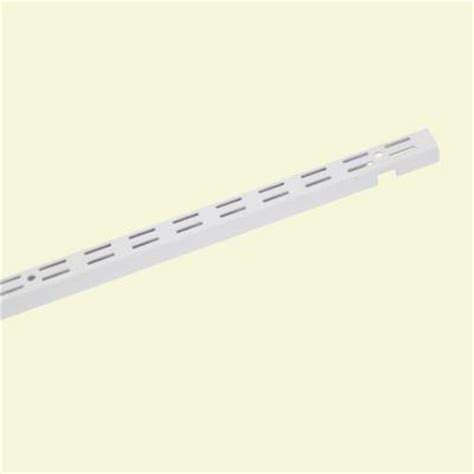 Closetmaid Bracket - closetmaid shelftrack 30 in x 1 in white track bracket