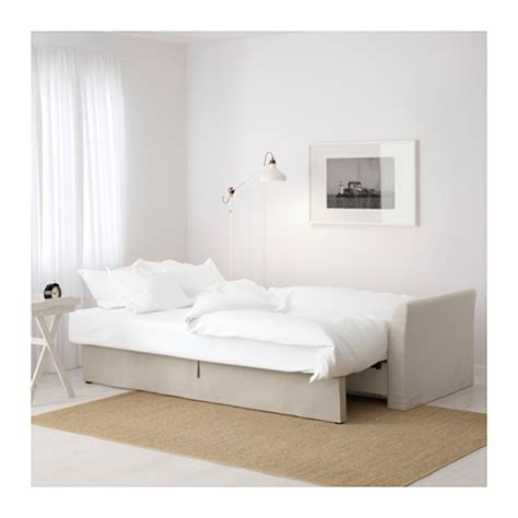 holmsund three seat sofa bed nordvalla beige ikea