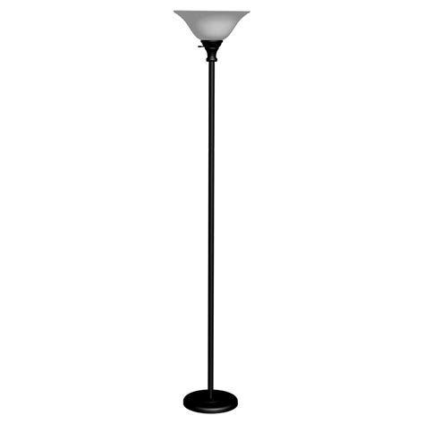 target floor l glass shade grandrich torchiere floor l with glass shade in black g