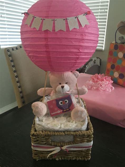 hot air balloon diaper cake baby shower decor baby shower