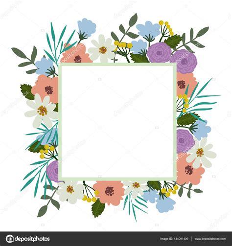 Marcos florales para la tarjeta Marco floral Tapa
