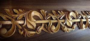 Carved Molding Onlay - Architectural Wood Carving