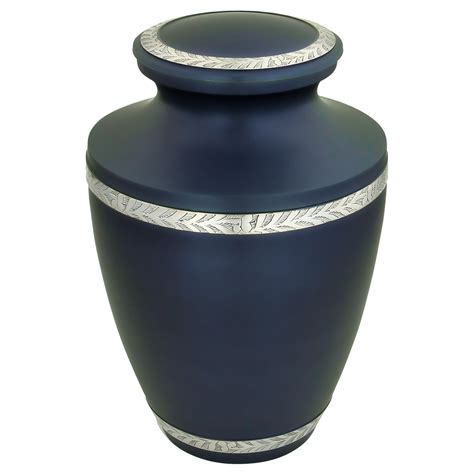 Augusta Blue Brass Urn for Ashes