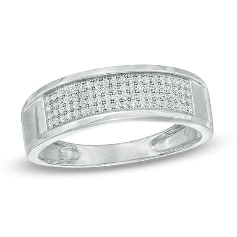 zales men wedding rings men s 1 4 ct t w diamond multi row wedding band in 10k white gold view all wedding wedding