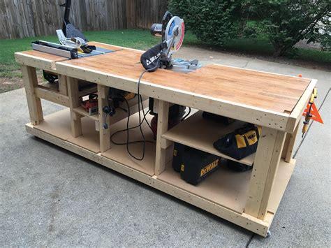 built  mobile workbench imgur garage work bench