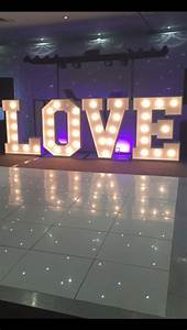 light up led love letters hire in home furniture diy With letter lights hire