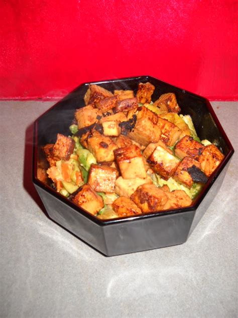 cuisiner tofu poele tofu poêlé sauce maggi et soja pachaikili bouffe les recettes de pachaikili cowblog