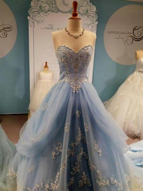 cinderella inspired blue wedding dress Naf Dresses