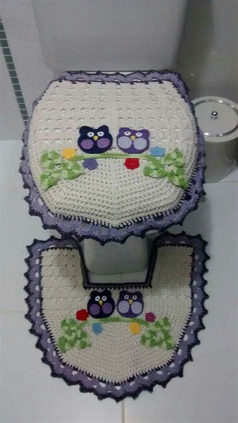 crochet owl bath sets bathroom crochet owls and ems on