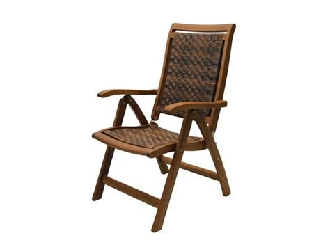 outdoor interiors 5 position folding arm chair