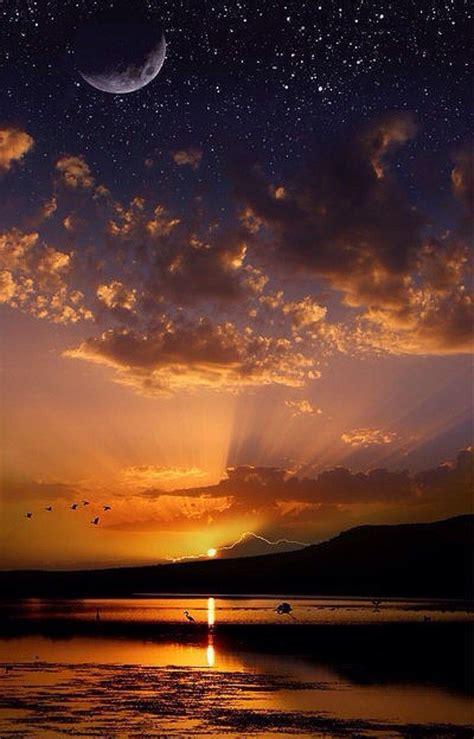 cielo hermoso cielo de la noche luz de las estrellas