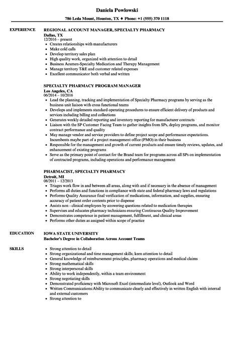 Specialty Pharmacist Resume specialty pharmacy resume sles velvet