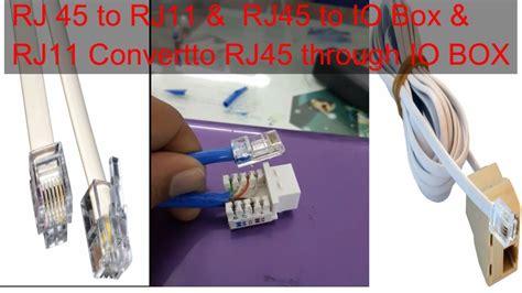 how to convert rj45 to rj11 or rj11 to rj45 youtube