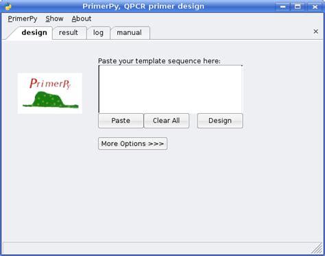 qpcr primer design primerpy gui tool for qpcr primer design