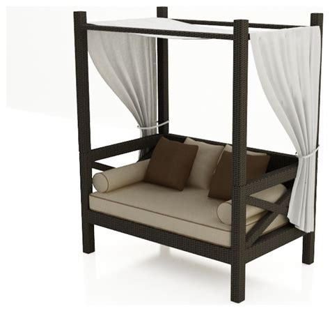 outdoor sofa with canopy hton canopy day bed by forever patio modern outdoor