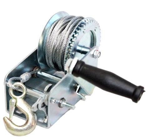 Verricello Boat Winch by 2200lbs Dual Gear Winch Towing Boat Trailer W 33ft