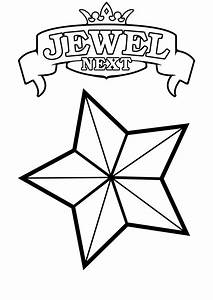 Stars Coloring Pages Jewel Next Print Coloring Pages