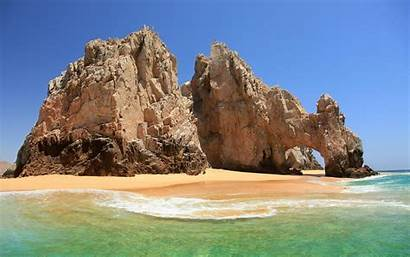 Mexico Beach Sea Wallpapers Rock Landscape Sand