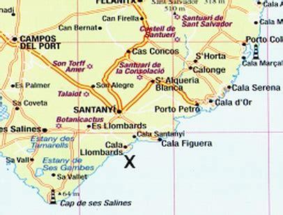 Cala Llombards Karte