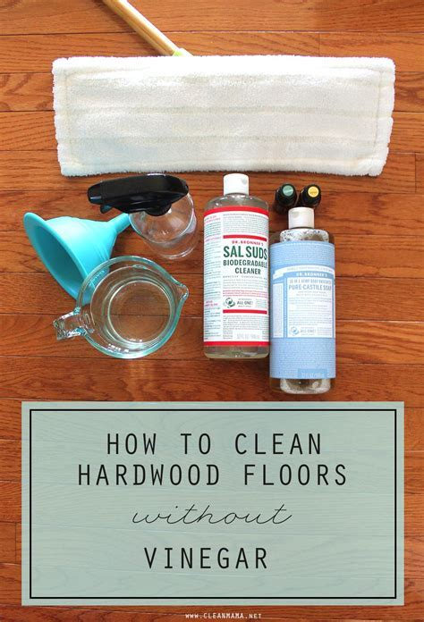 How to Clean Hardwood Floors WITHOUT Vinegar   Diy recipe