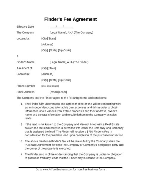 Great Introducing Broker Agreement Template Photos>> Late
