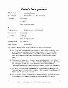 sample finder39s fee contract hashdoc With property finders fee agreement template