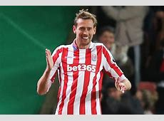 Stoke 1 Everton 1 Peter Crouch does the robot after