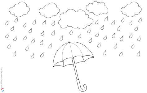 raindrop coloring pages rainy water drops  printable