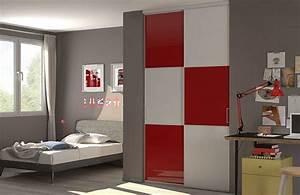 Deco Porte Placard : fabulous porte de placard design rouge et blanche with deco porte de placard ~ Teatrodelosmanantiales.com Idées de Décoration