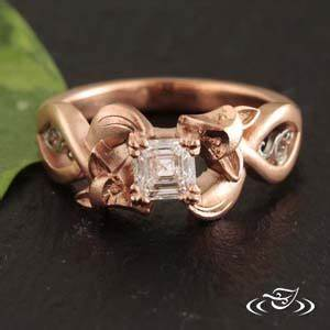 my custom jewelry design at green lake jewelry works With fox wedding ring