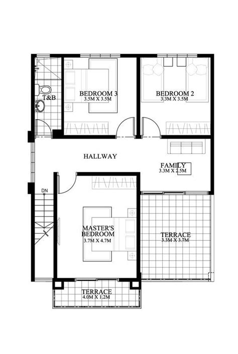 3 Bedroom Floor Plan In Philippines by Modern House Plan Like Model Is A 4 Bedroom 2 Story