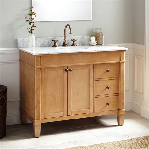 oak bathroom vanity cabinets 42 quot marilla oak vanity bathroom vanities bathroom