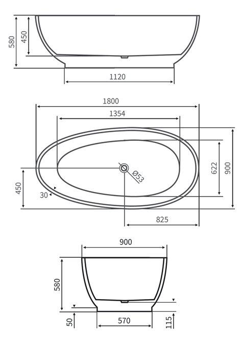 vasca ovale prezzo vasca da bagno centro stanza freestanding ovale 170x80