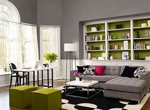 Living room color schemes gray decorating inspiration for Living room paint colour inspiration
