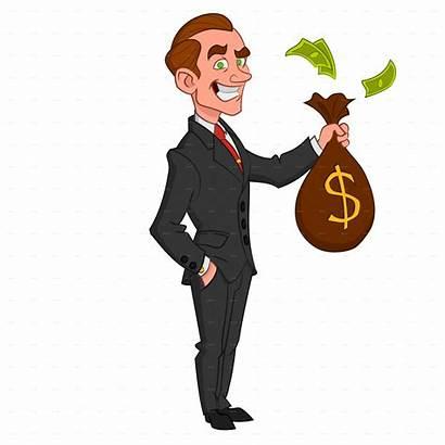 Businessman Money Cartoon Clipart Business Transparent Holding